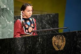 """Water Warrior"", 15 Year Old Autumn Peltier Speaks to the UN"